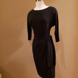 Ann Taylor Black Dress with Tie Waist